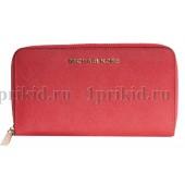 MICHAEL KORS (Майкл Корс) кошелек красный женский красный натуральная кожа 19x2x10см/54668