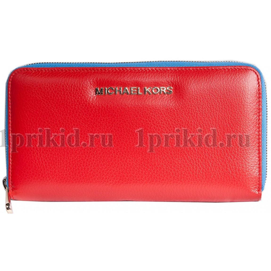 MICHAEL KORS кошелек женский красный натуральная кожа 19x2x10см 34597 ... 46aafe7a93b