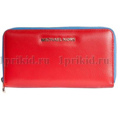 MICHAEL KORS кошелек женский красный натуральная кожа 19x2x10см/34597