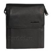 Мужская сумка JANCARLO BARETTI натуральная кожа 19x22см/7023 цвет чёрный
