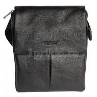 Мужская сумка PRENSITI натуральная кожа 21x6x25см/7745 цвет чёрный