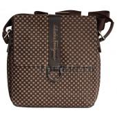 Мужская сумка Salvatore Ferragamo натуральная кожа 22x26см/3105 цвет коричневый