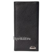 Мужское портмоне мужской чёрный натуральная кожа 19x9см/3686