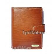Мужское портмоне COSSET мужской коричневый натуральная кожа 10x14см/7047