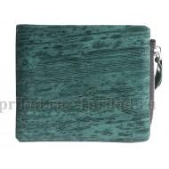 NICOLE RICHIE (Николь Ричи) кошелек мужской зелёный натуральная кожа 11x10см/47891