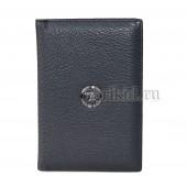 Обложка для паспорта натуральная кожа цвет чёрный 10x14см/456786