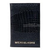 Обложка для паспорта натуральная кожа цвет чёрный 10x14см/54842