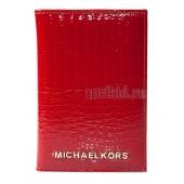 Обложка для паспорта натуральная кожа цвет красный 10x14см/54850
