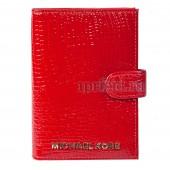 Обложка для документов натуральная кожа цвет красный 10x14см/58638