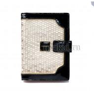 Обложка для документов натуральная кожа цвет золотой 10x14см/65725
