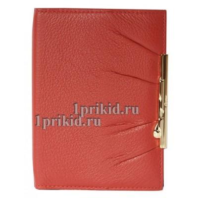 Обложка CARTIER натуральная кожа цвет красный 10x14см/2790