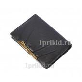 Обложка Cosset натуральная кожа цвет чёрный 10x14см/1135