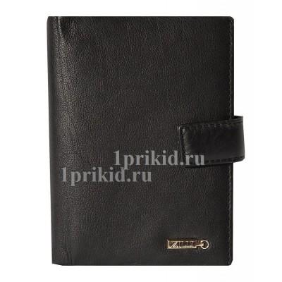 Обложка для документов ZILLI натуральная кожа цвет чёрный 10x14см/0671