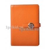 Обложка Hermes натуральная кожа цвет оранжевый 10x14см/0459
