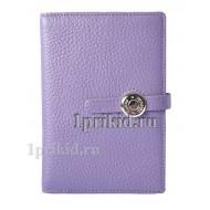 Обложка Hermes для автодокументов натуральная кожа цвет фиолетовый 10x14см/04021
