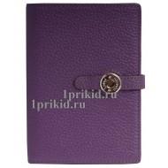 Кошелёк HERMES женский фиолетовый натуральная кожа 20x12см/0579