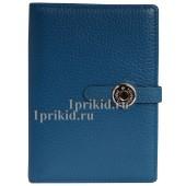 Обложка HERMES для документов натуральная кожа цвет синий 10x14см/0914