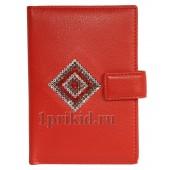 Обложка LISON KAOBERG для документов натуральная кожа цвет красный 10x14см/4516