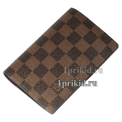 Обложка LOUIS VUITTON натуральная кожа цвет коричневый 10x14см/1985