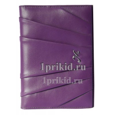 Обложка MARIO VERONNI натуральная кожа цвет фиолетовый 10x14см/5117