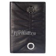 Обложка Moro JEnny для паспорта натуральная кожа цвет чёрный 10x14см/04876