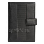 Обложка на документы FENDI натуральная кожа цвет чёрный 10x14см/24565