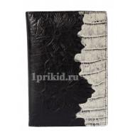 Обложка на паспорт Wanlima натуральная кожа цвет чёрный 10x14см/2782