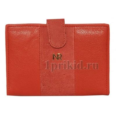 Обложка NICOLE RICHIE натуральная кожа цвет красный 10x14см/4328