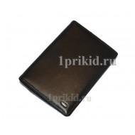 Обложка PETEK натуральная кожа цвет чёрный 10x14см/1740