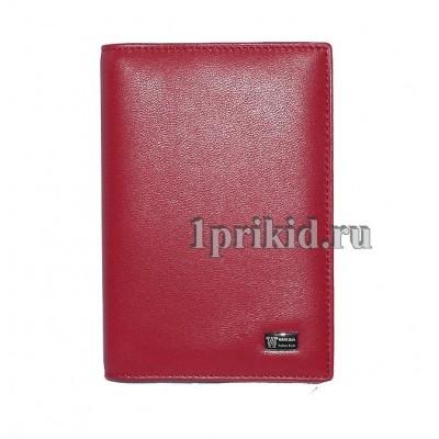 Обложка WANLIMA натуральная кожа цвет красный 10x14см/0348