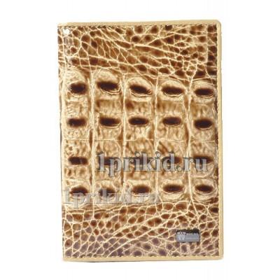 Обложка WANLIMA натуральная кожа цвет бежевый 10x14см/0501