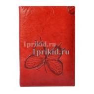 Обложка Wanlima натуральная кожа цвет красный 10x14см/2211