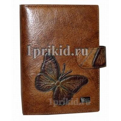 Обложка Wanlima натуральная кожа цвет коричневый 10x14см/5352