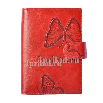Обложка WANLIMA для документов натуральная кожа цвет красный 10x14см/5397