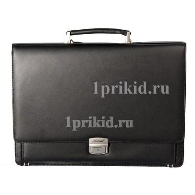 Портфель ALBATROS натуральная кожа 39x9x29см/09876 цвет чёрный