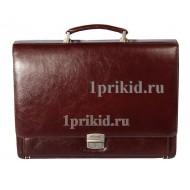 Портфель ALBATROS натуральная кожа 39x9x29см/19882 цвет коричневый