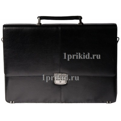 Портфель ALBATROS натуральная кожа 39x9x29см/56787 цвет чёрный