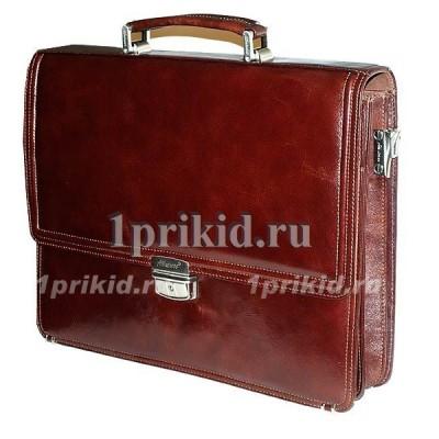 Портфель ALBATROS натуральная кожа 39x10x29см/9011 цвет коричневый