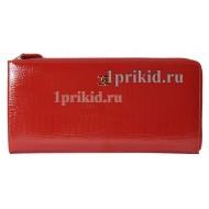 Портмоне CHANEL женский красный натуральная кожа 24x12см/6199