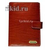 Портмоне Cosset мужской коричневый натуральная кожа 10x14см/7048