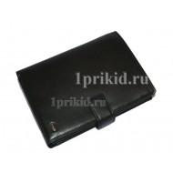 Портмоне PETEK мужской чёрный натуральная кожа 11x15см/1718