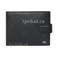 Портмоне PETEK мужской чёрный натуральная кожа 13x9см/1729