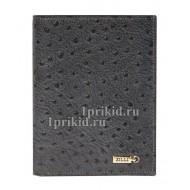 Портмоне ZILLI мужской серый натуральная кожа 11x14см/3742