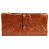 Портмоне Velina Fabbiano женский коричневый натуральная кожа 19x9см/3781