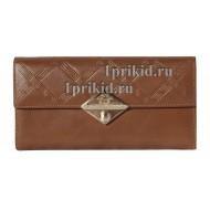 Портмоне VERSACE женский коричневый натуральная кожа 19x10см/5520