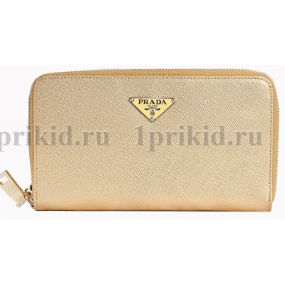 PRADA(Прада) Кошелек золото женский золото натуральная кожа 19x2x10см/11892