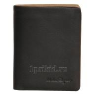 SALVATORE FERRAGAMO портмоне мужской чёрный натуральная кожа 10x12см/3679