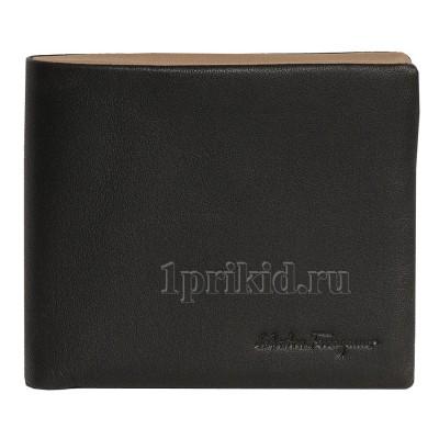 SALVATORE FERRAGAMO кошелек мужской чёрный натуральная кожа 11x9см/3678