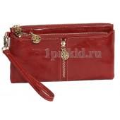 V.Fabbiano кошелёк женский красный натуральная кожа 19x10см/2956