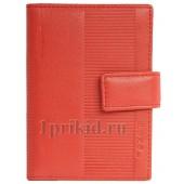 Визитница FENDI натуральная кожа цвет красный 8x10см/24567